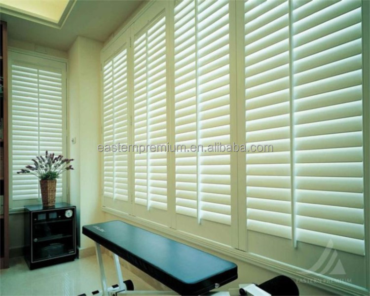 Wooden sliding plantation shuttes and window plantation shutter slats with best price