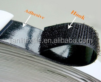 3M glue super stickness self adhesive one side hook and loop tape