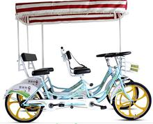 Top Selling Used Quadricycle Surrey Sightseeing Bike/4 Wheel Surrey Tandem Bicycle For Sale