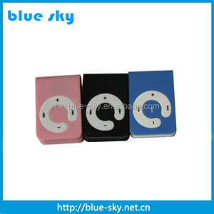 Fashion high quality mini clip music no limit mp3 player with TF card slot