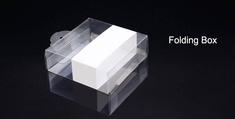 Custom printing clear plastic folding box
