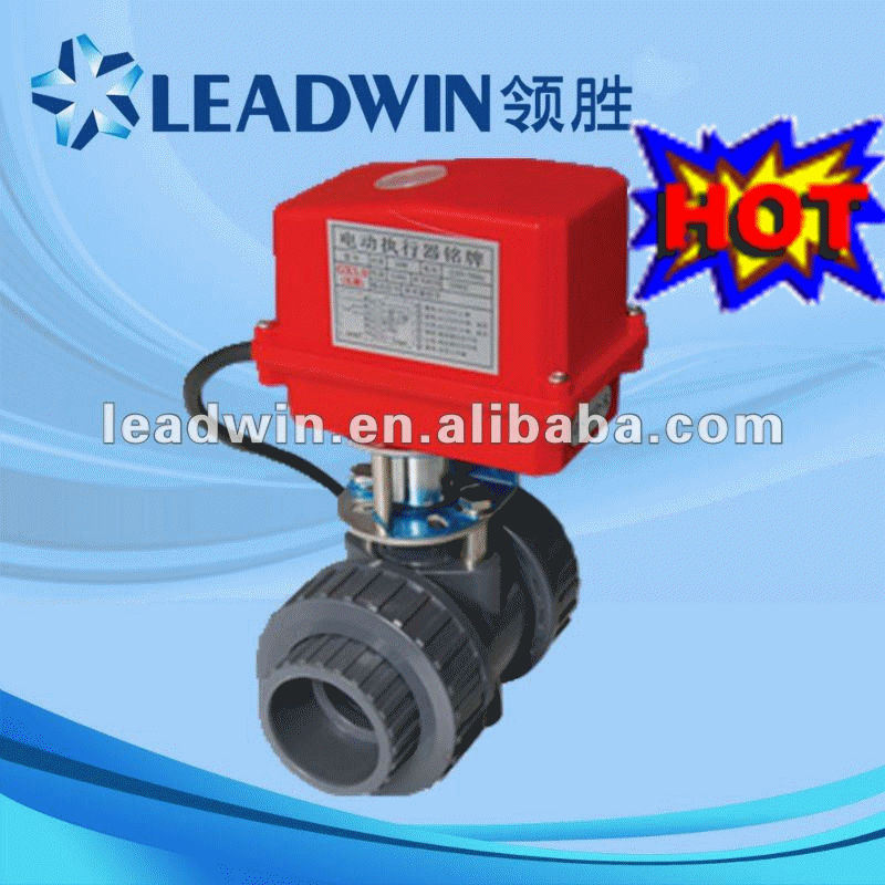 electrical actuator pvc ball valve DN15-DN100 with good quality