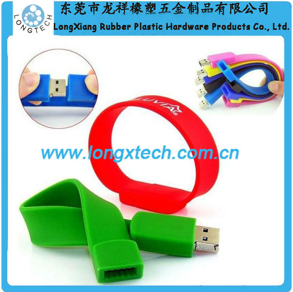 hot sale vogue silicone oem popular 16gb lanyard usb