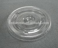 Plastic disposable cup lid