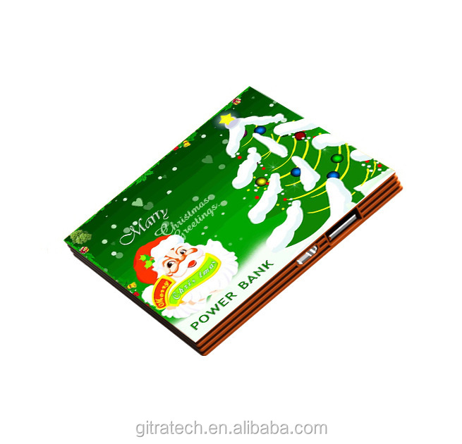 Merry Christmas Top Quality Thin Credit Card For Gift Customed Power Bank
