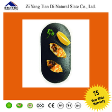 natural black slate plate dinner stone plate for kitchen