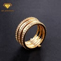 Hot sale stacking fashion gold ring designs for women