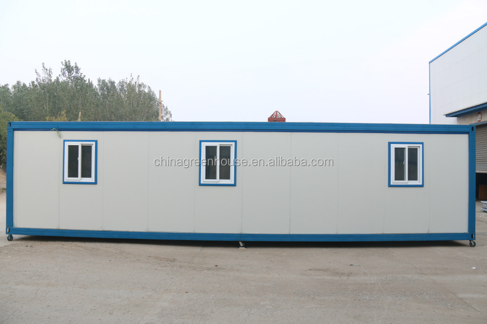 fireproofed timber kit flat pack prefab 40 feet container house for expandable container house with CE Certification