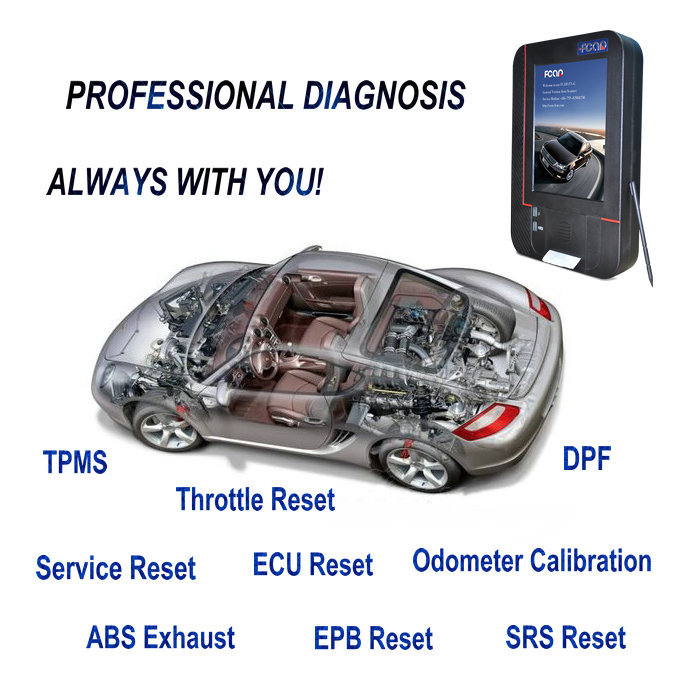 Newest Full universal diagnostic scanner on all cars with Free Update