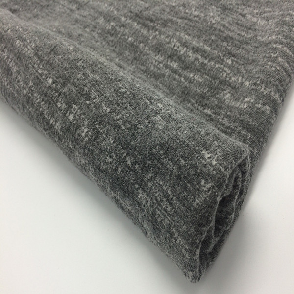 Fashionable grey soft warp thick needle knitted fabric