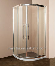 2017 hot sale steam sauna round glass shower room 9005