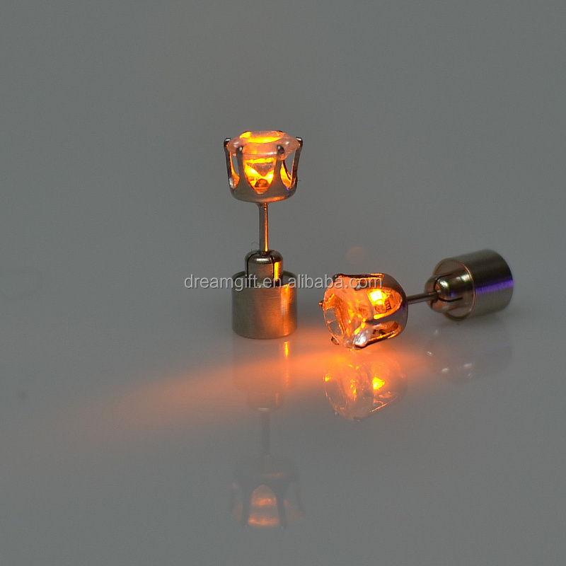 2013.2014 Wholesale Led Blinking Earrings Ear Studs new ear nail