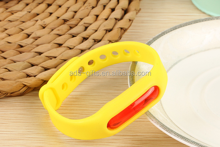 2017 newest natural adjustable silicone mosquito repellent bracelet Anti-mosquito Devices