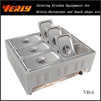 Commercial Stainless Steel Kitchen Equipment Hot Bain Marie/ 6 ...