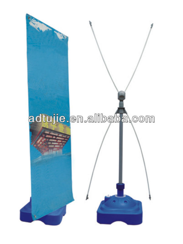 Steel/metal/fiber Korean/water base X exhibition frame stand, X banner stand