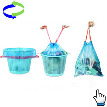 hdpe and ldpe plastic material convenient drawtape laundry bags with heavy duty