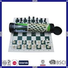 China supplier plastic tube packing chess game