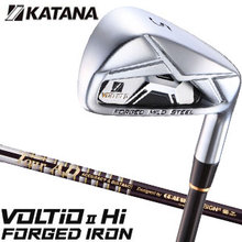 KATANA GOLF VOLTIO II Hi FORGED Japanese golf iron set (No5-Pw) with graphite design TOUR AD65 shaft KATANA sports