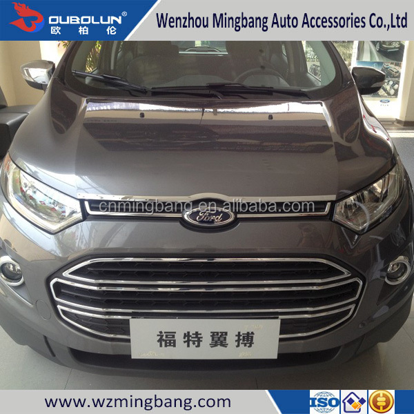 for 2013 Ford Ecosport Exterior Accessories High quality ABS chrome car front grille moulding trim trims bar