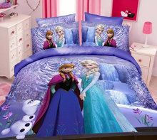 Microfiber fabric alibaba china wholesale 5D frozen elsa anna kids bedding set