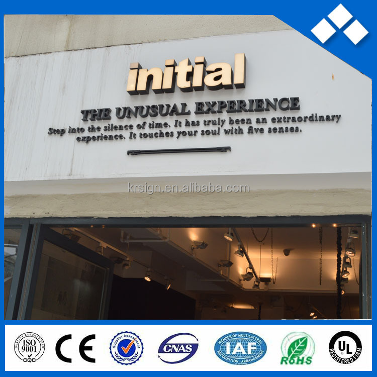 Out door shop front galvanized plate 3d letter / galvanized sign board