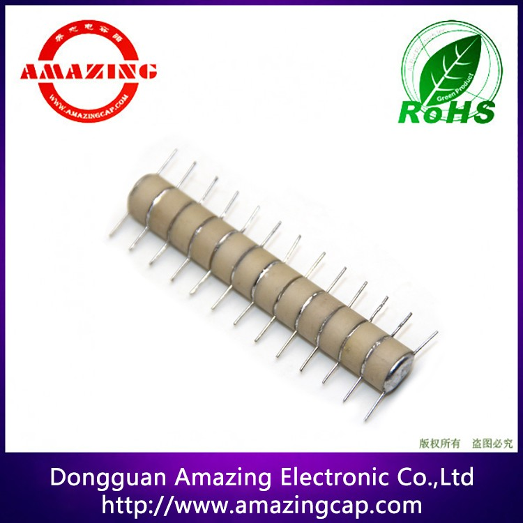 High Voltage Stacked Ceramic Capacitor Module 220PF 25KV <strong>N12</strong> D5.7mm*T5.5mm*L72mm