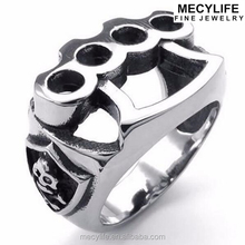 MECYLIFE Stainless Steel Men's Ring Casting Boxing Rings