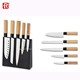 Multifunctional professional japanese kitchen knife set in magnetic block