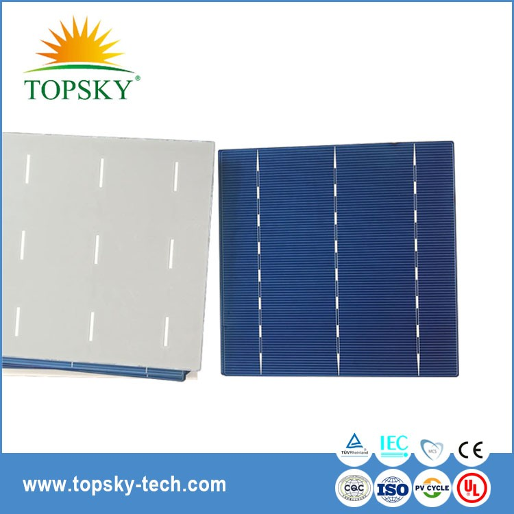 156x156mm 6''inch 3BB 4BB polycrystalline solar cell for solar panel samples available