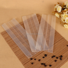 Fashionable good quality heat sealing transparent plastic bag for coffee bean/powder packing