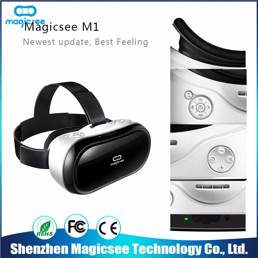 Magicsee all in one master image circular polarized 3d glasses vr headset with screen
