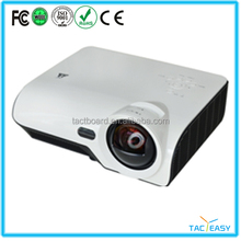 High resolution long throw projector with quick reaction