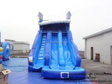 PK Durable Cheap Water Slide Commercial Inflatable Water Slides With Pool For Kids