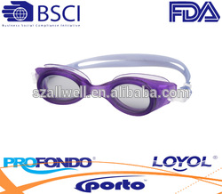 Good Quality wide view swim goggle with antifog lens