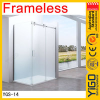 shower glass screen / frameless sliding shower screens / shower screens for baths