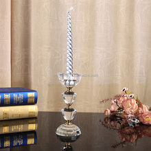 christmas table decoration crystal candle holder glass candlestick