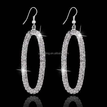 Fashion Women Jewelry Gold/ Silver Big Hoop Earrings