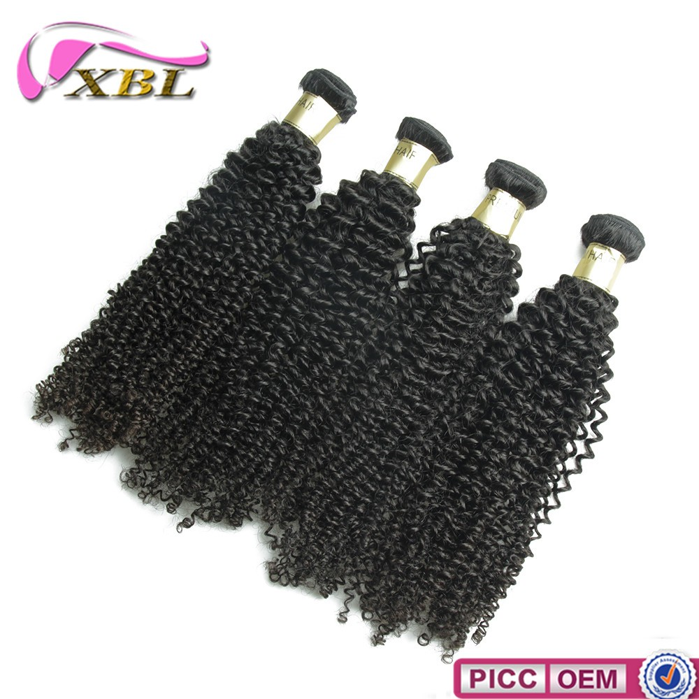 100% virgin human hair Mongolian kinky curly hair wholesale