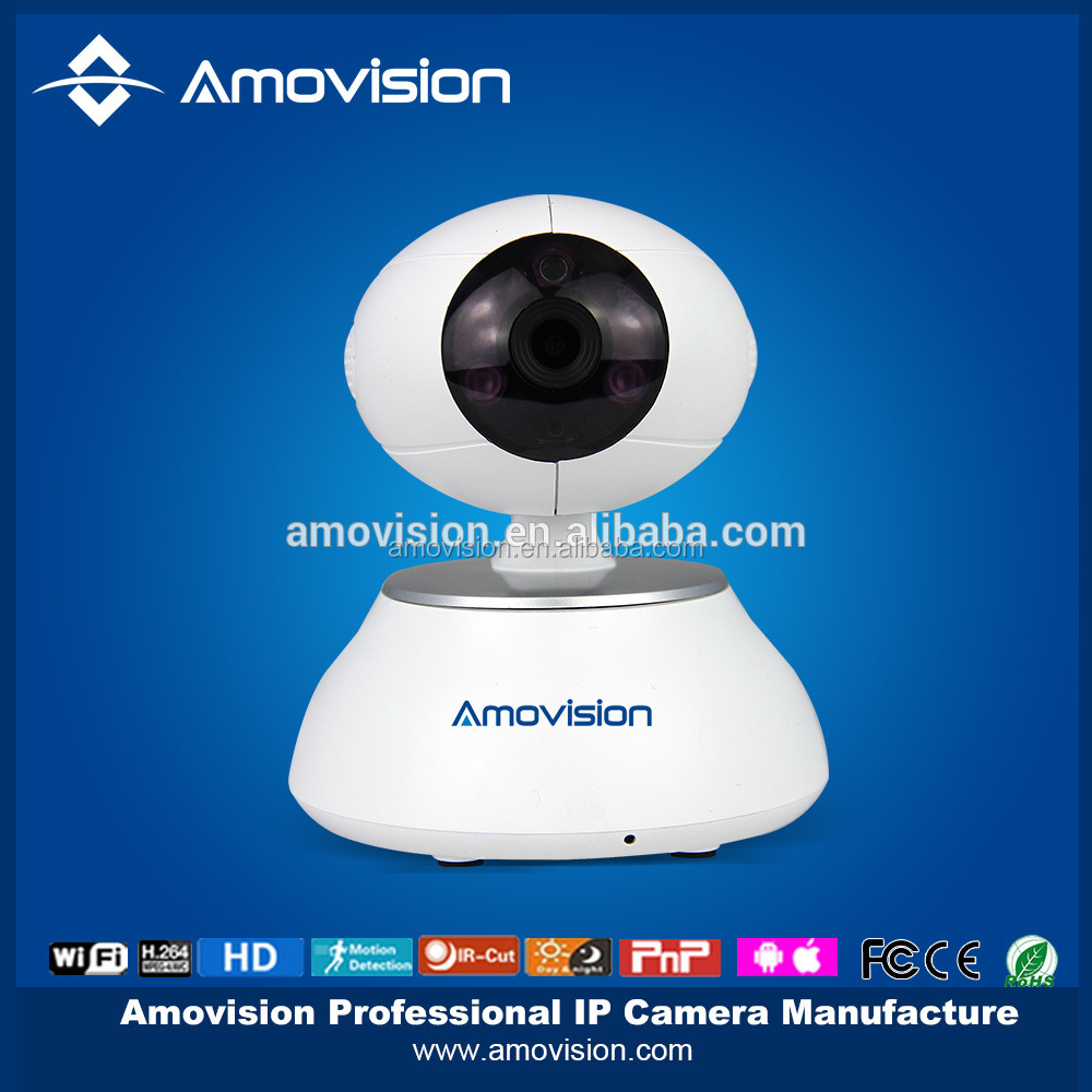 720P Megapixel IPC CAM with SD Card Slot,P2P Wireless WIFI IP Camera Support 6 Place Alarm Linkage