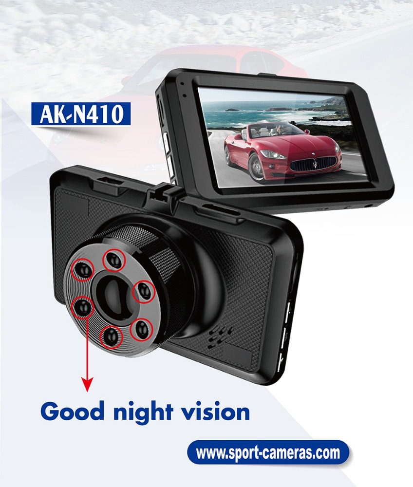 2017 IS09001 Certicated factory metal night vision full hd 1080P dashcam G30