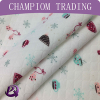 Champiom textile high quality Soft handle jacquard quilted Cotton fabric for child clothing