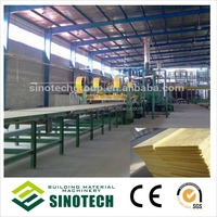 High density glass wool board production line