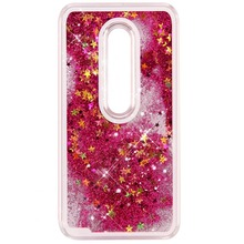 Quicksand Flowing Liquid Floating Bling Glitter Sparkle Stars Crystal Clear Hard Case For Motorola Moto G / G3