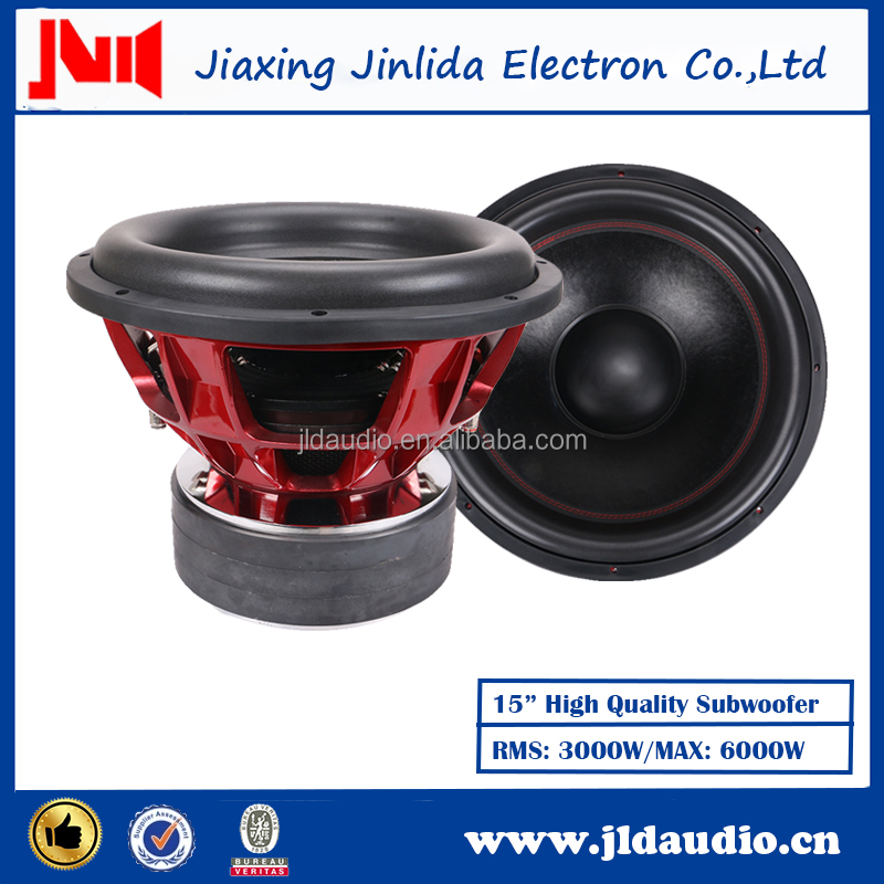 "China OEM factory high quality sound system speaker 15"" 3000w car audio subwoofer"
