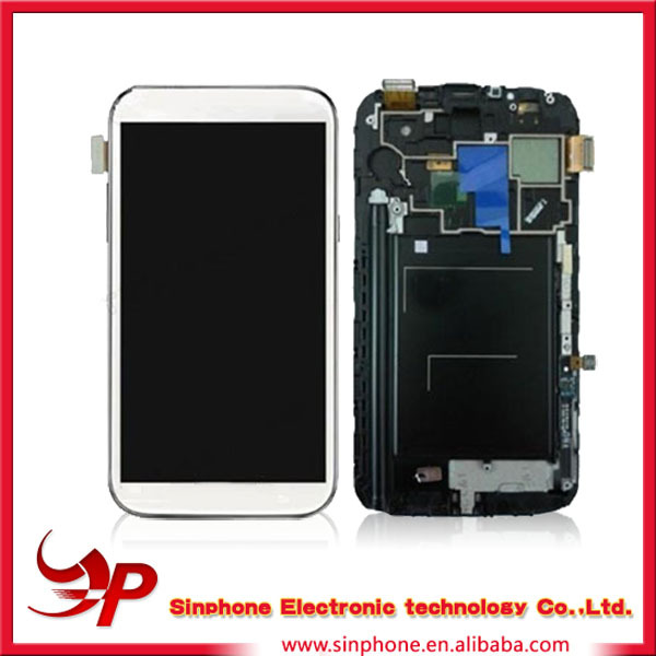 Replacement Mobile phone LCD touch screen For Samsung Galaxy Note 2 N7100 with frame