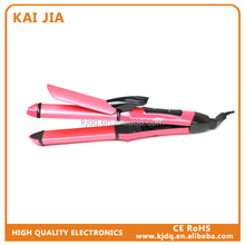 2 in 1 multi-function electric hair straightener and different types of hair curlers