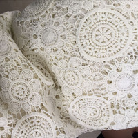 Classic 100% cotton heavy embroidery french lace fabric