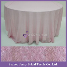 SQN#54 Jenny Bridal Blush Sequin 120 Round Tablecloth