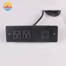 Electrical plugs sockets 3 pin desktop power data mounted outlets