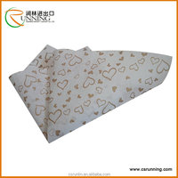Gold &sliver heart shaped fabric DIY non woven fabric for flower wrapping